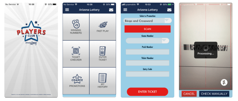 Arizona Lottery ios android mobile app