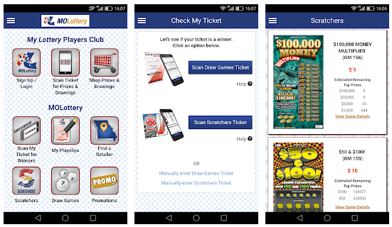 Missouri Lottery mobile Android iOS app