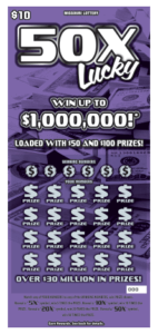 Missouri Lottery scratchers