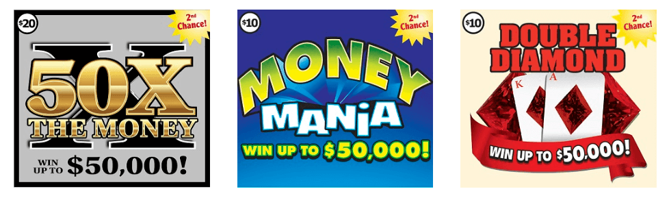 Vermont Lottery instant scratch games