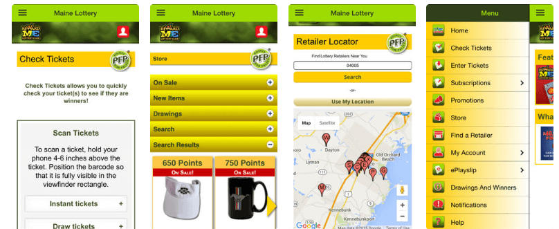 Maine Lottery mobile iOS Android app