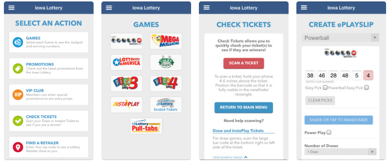 Iowa Lottery mobile iOS Android app