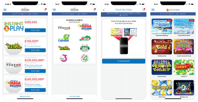 Kentucky Lottery mobile app Android iOS