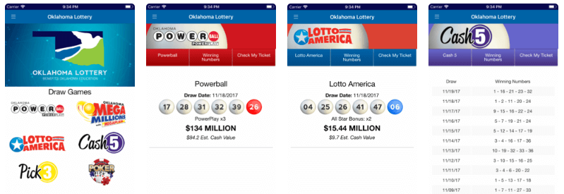 Oklahoma Lottery mobile Android iOS app