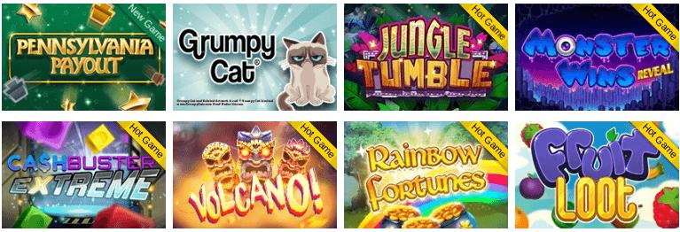 PA iLottery virtual games