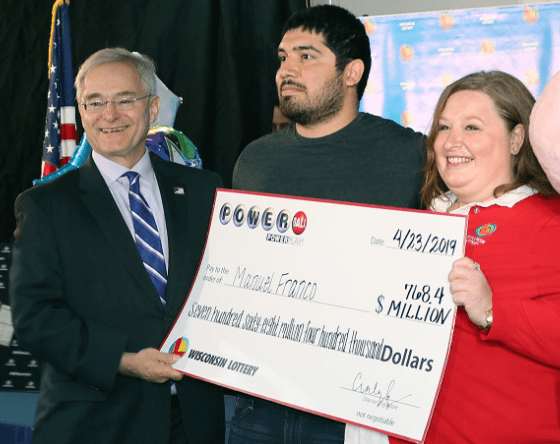 Powerball winner Wisconsin Manuel Franco