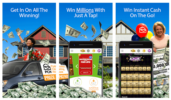 PCH Lotto mobile app Android iOS