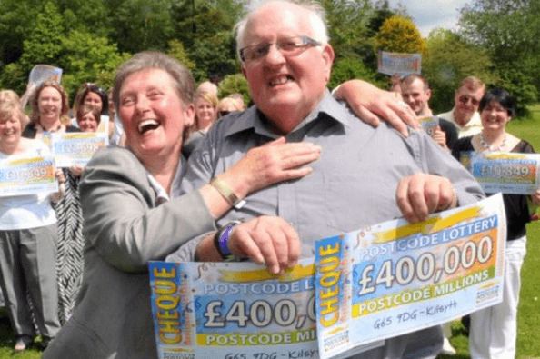Postcode Lottery winner Hugh Lundy