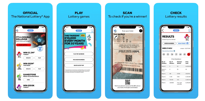 UK National Lottery mobile app