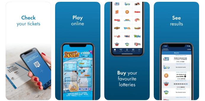 Loto Quebec mobile app