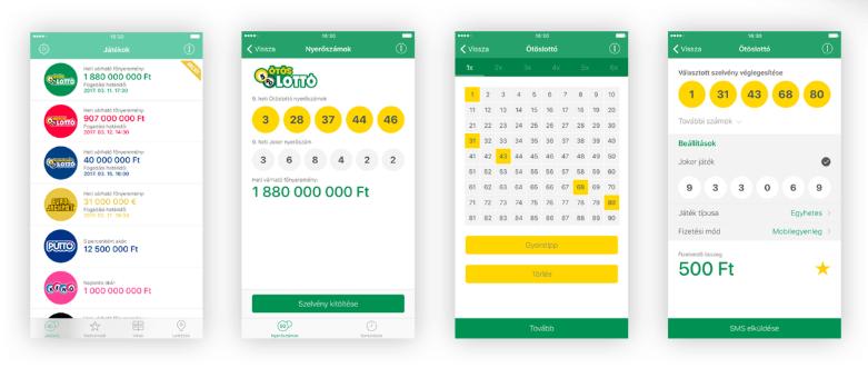 Szerencsejáték mobile app
