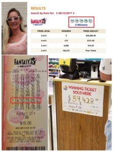 Lotto Profits - Florida Fantasy 5 winner - Lisa