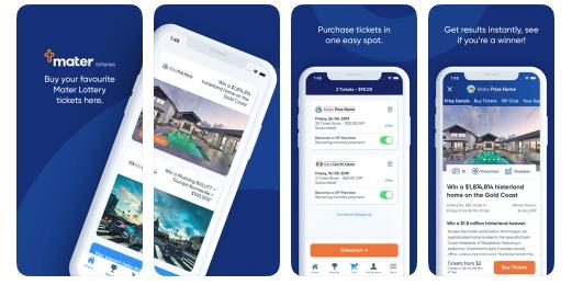 Mater Lotteries mobile app