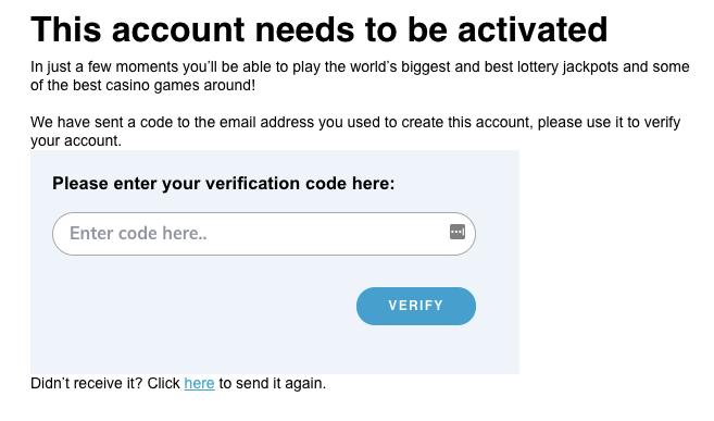 multilotto - account activation